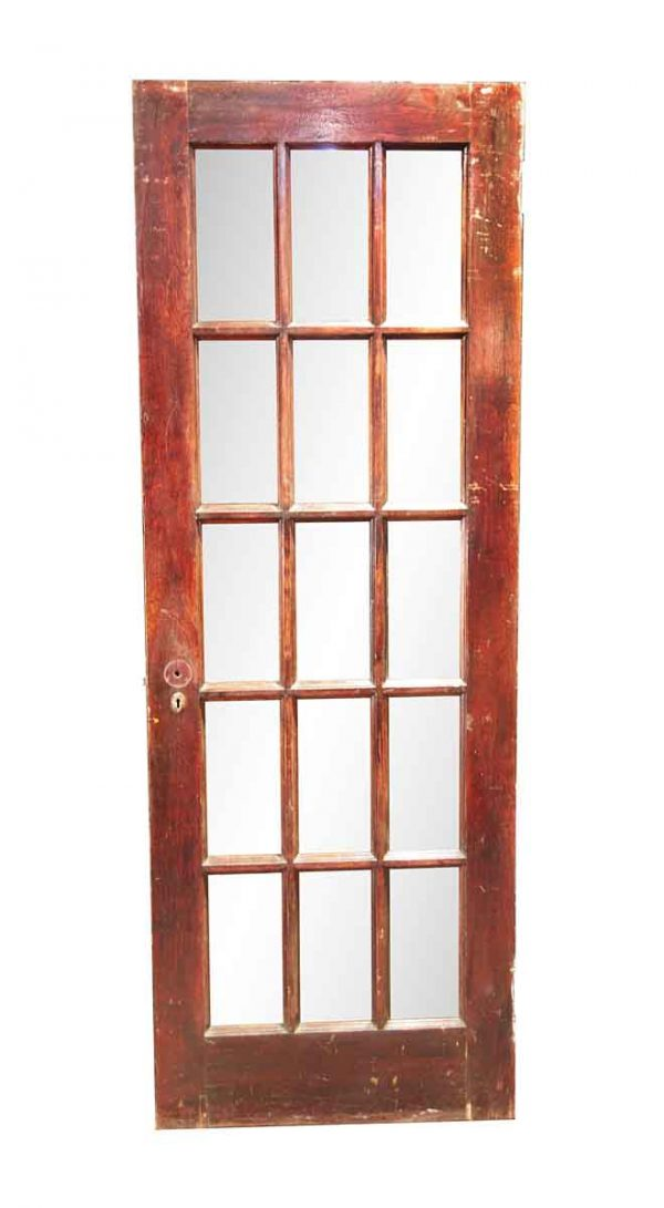 French Doors - Vintage 15 Lite Wood French Door 82.75 x 29.625