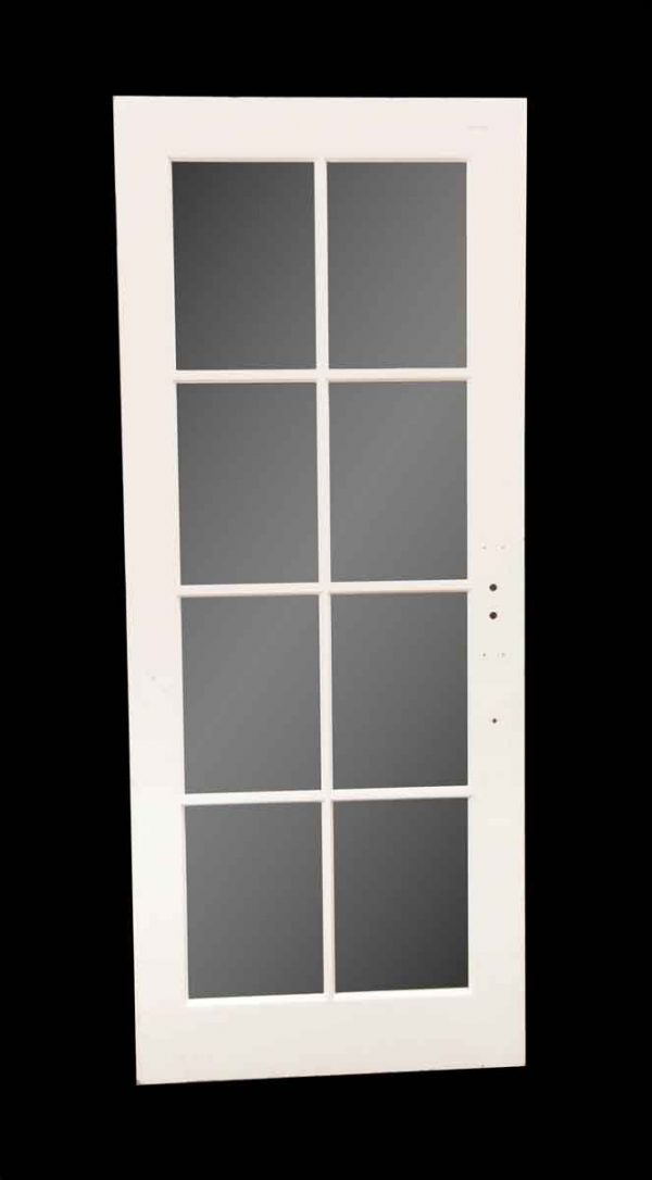 French Doors - Vintage 8 Lite White Wood French Door 77.25 x 31.75