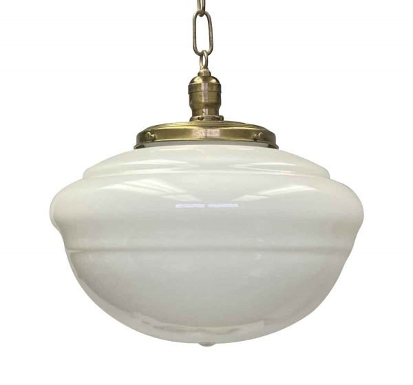 Globes - Antique Schoolhouse 14 in. Pendant Light with Original Fitter