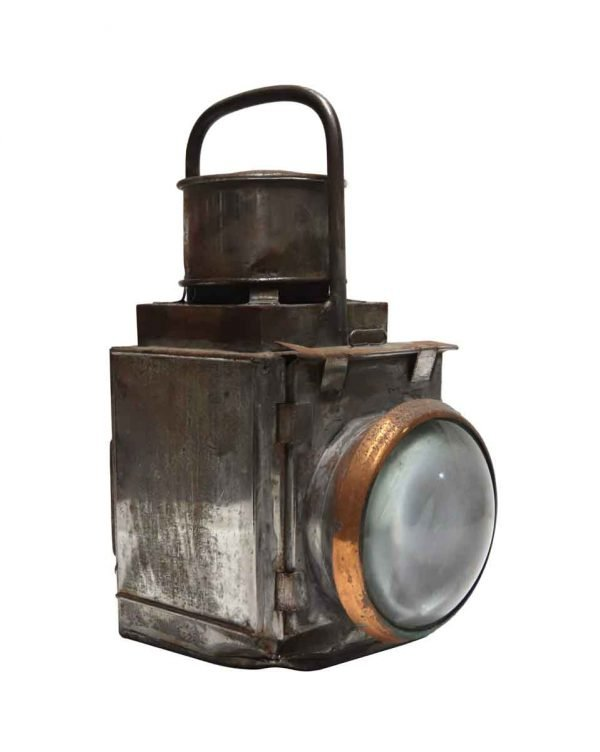 Industrial & Commercial - Antique Copper & Tin Hand Held Port - Starboard Light