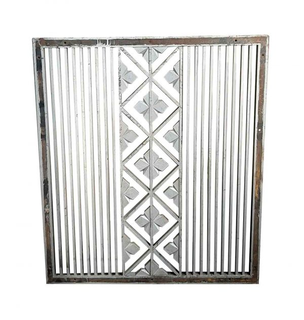 Interior Materials - Salvaged Cast Iron Wall Vent Cover 47 x 35