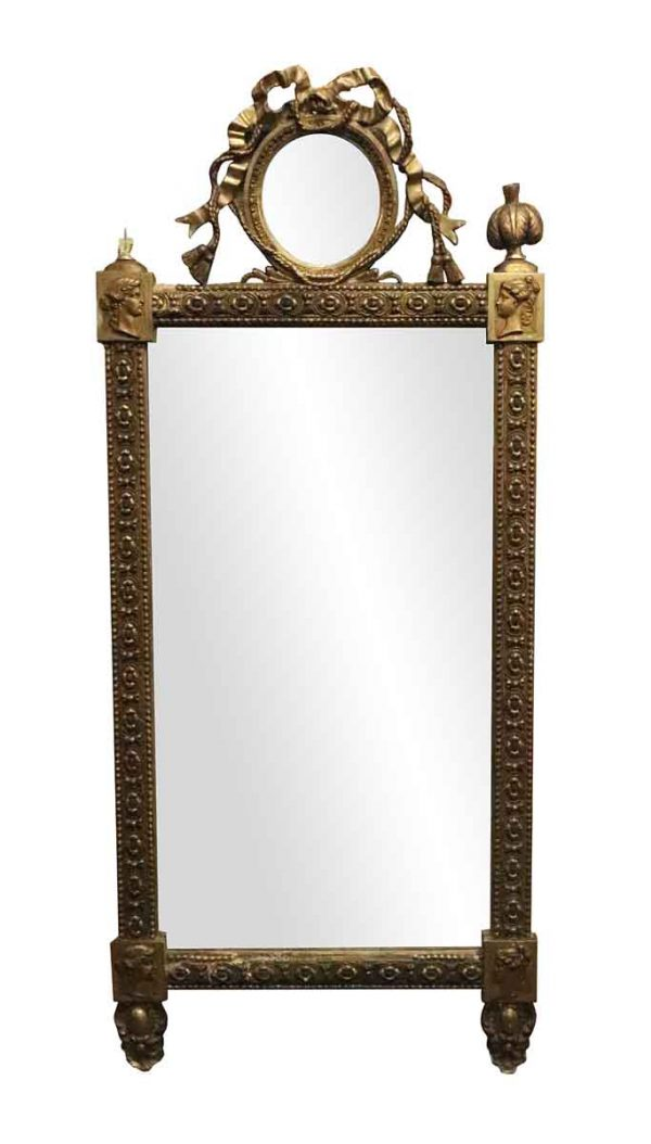 Overmantels & Mirrors - Antique French Provincial Style Gilded Mirror