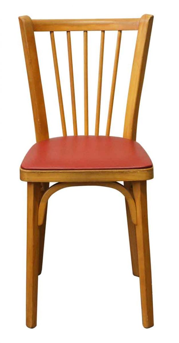Seating - Baumann Wood Chai with Red Seat