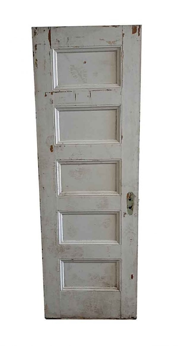Standard Doors - Antique 5 Panel Wood Passage Door 82.375 x 27.75