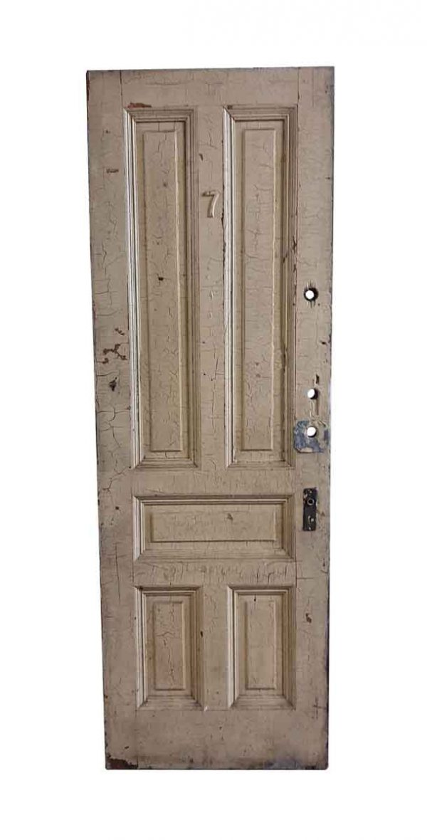 Standard Doors - Antique 5 Panel Wood Privacy Door 89.25 x 30