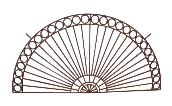 Decorative Metal - 1920s Cast Iron Arch Fan Shape Transom