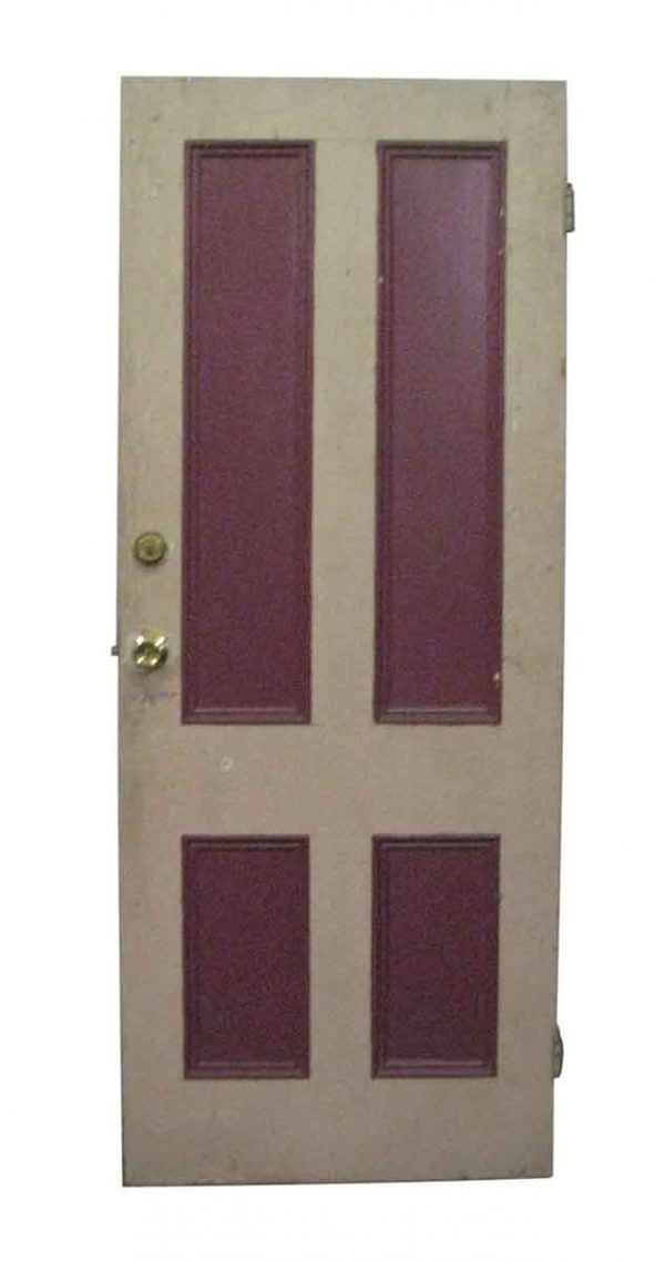 Entry Doors - Vintage 4 Pane Wood Entry Door 80.5 x 32