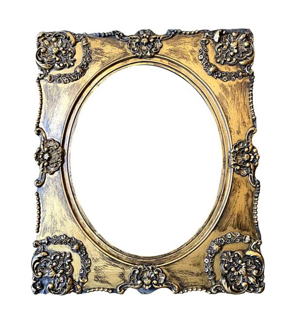 Frames - French Carved Gold Painted Wood Frame 26.25 x 22.25