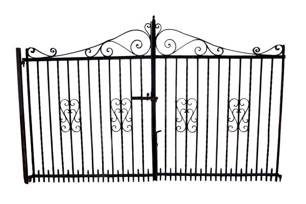 Gates - 1950s 9 ft. x 6 ft. Wrought Iron Dual Driveway Gates