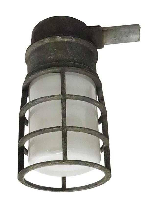 Industrial & Commercial - Industrial Crouse Hinds Opaline Glass Ceiling Light
