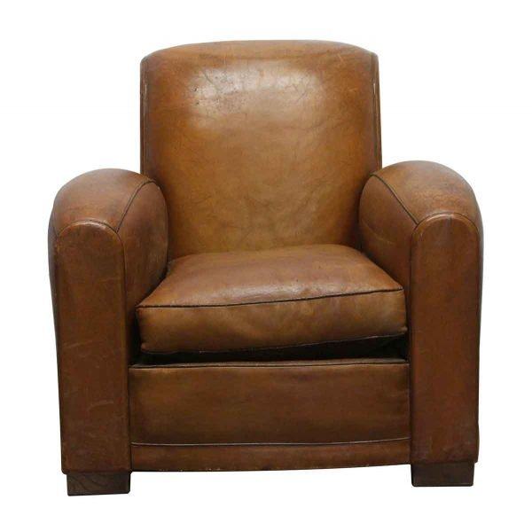 Living Room - Vintage Pair of French Leather Club Chairs