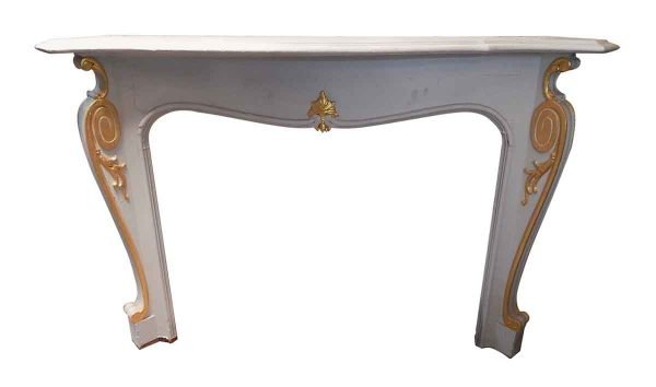 Mantels - Louis XV White French Gold Wooden Mantel