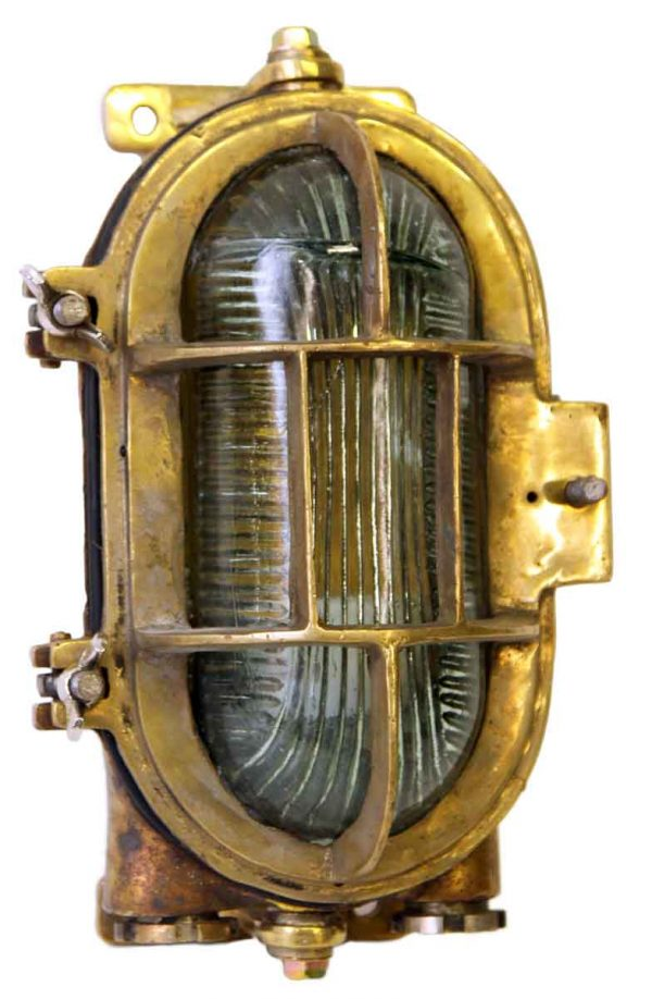 Nautical Lighting - Heavy Duty Bronze Oval Ship Light
