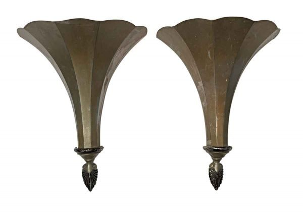 Sconces & Wall Lighting - 1920s French Brass Theater Torche Wall Sconces