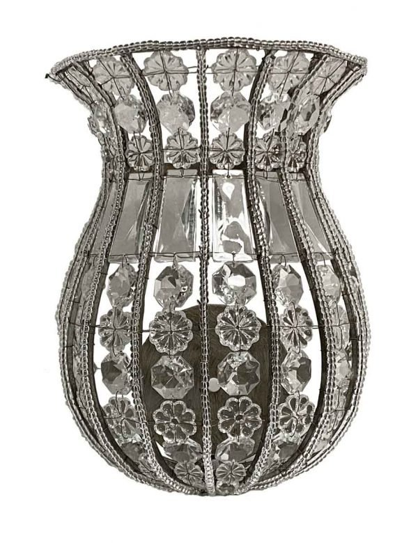 Sconces & Wall Lighting - Venetian 8.5 in. Crystal Basket Wall Sconce