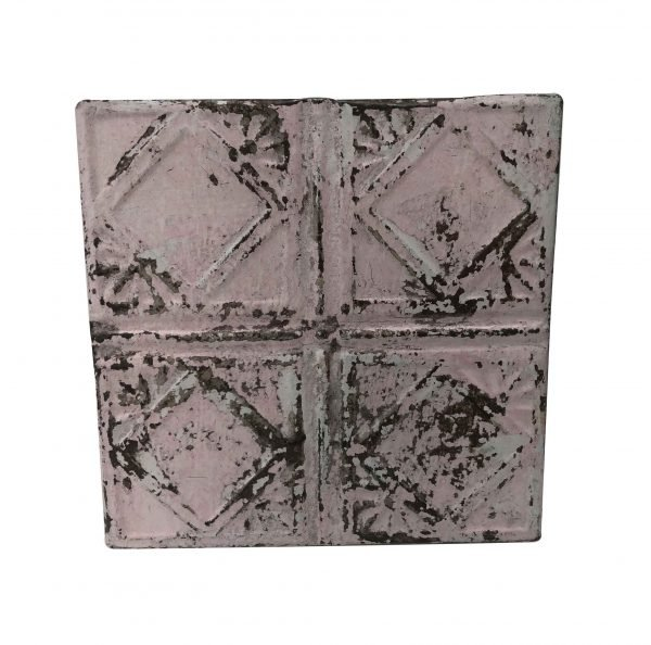 Tin Panels - Antique Art Deco Pink Tin Panel