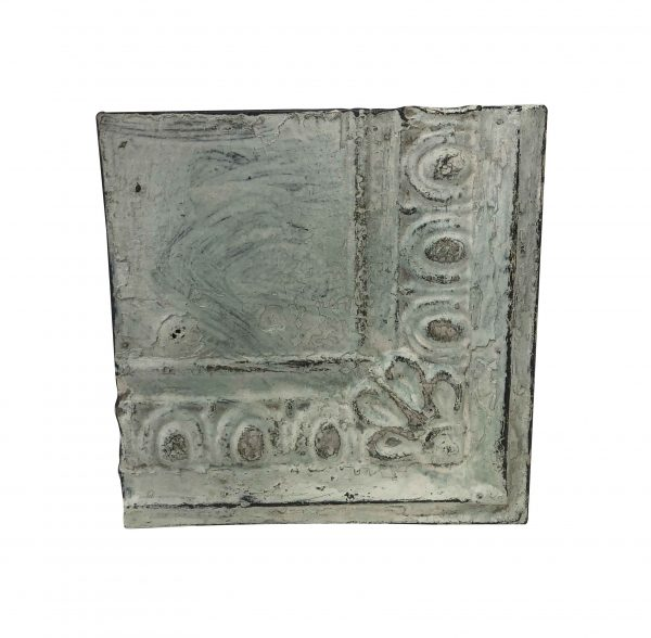 Tin Panels - Antique Gray Corner Flower Tin Panel