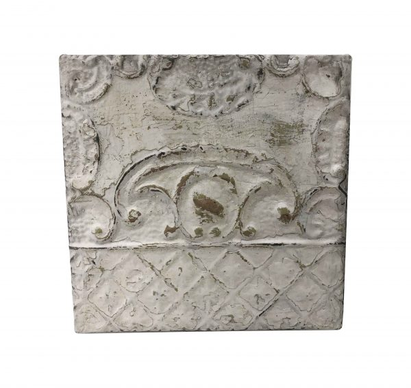 Tin Panels - Antique White Royal Shield Tin Panel