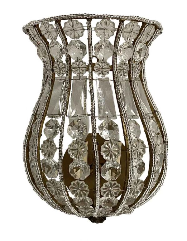 Wall & Ceiling Lanterns - Venetian 12 in. Crystal Basket Wall Sconce