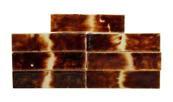 Wall Tiles - Set of 7 Mixed Brown Wall Tiles 4.25 x 1