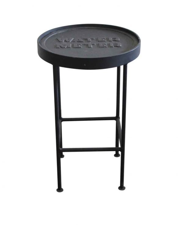 Altered Antiques - Water Meter Black Cast Iron Side Table