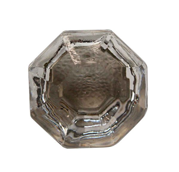 Cabinet & Furniture Knobs - 1.25 in. Vintage Clear Glass Octagon Cabinet Knob