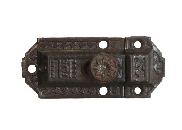 Cabinet & Furniture Latches - Aesthetic Cast Iron Antique 3.25 in. Cabinet Latch