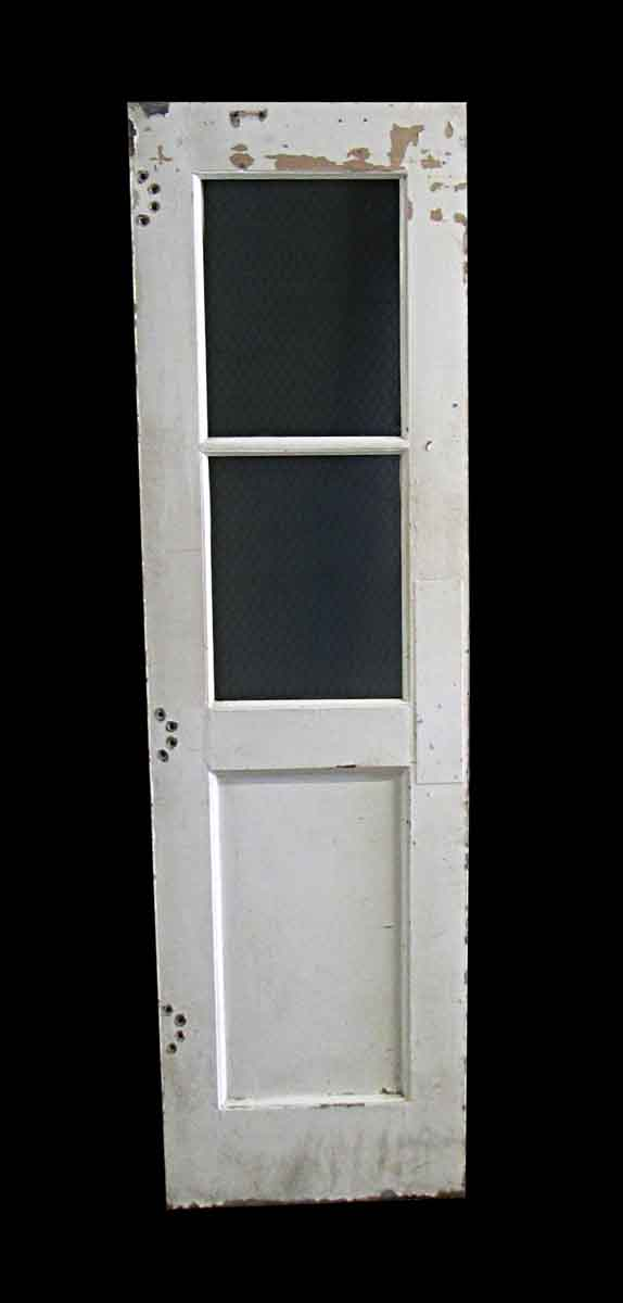 Commercial Doors - 2 Chicken Wire Glass Pane 1 Panel Metal Door