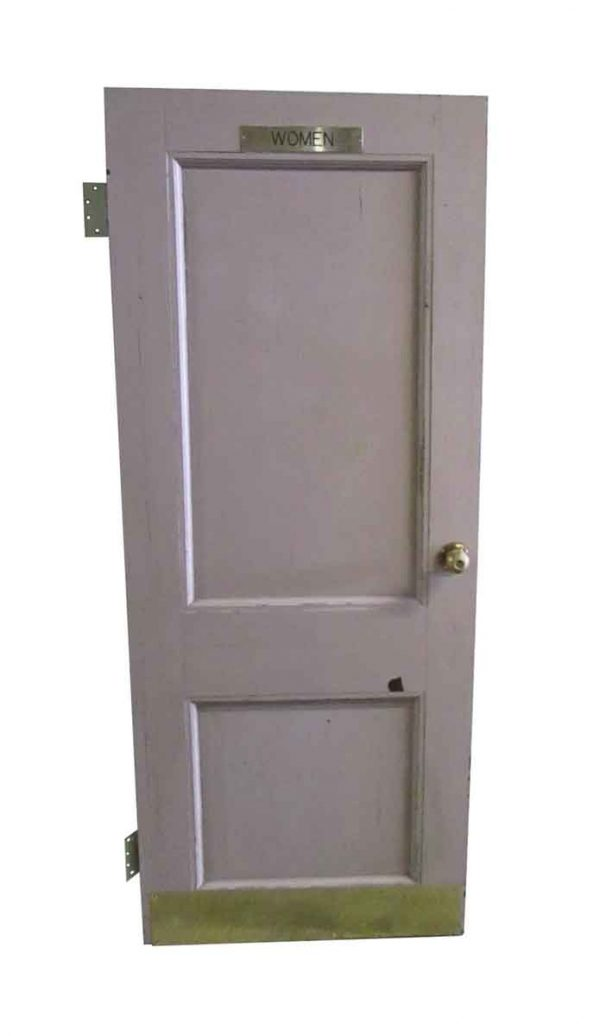 Commercial Doors - Antique 2 Pane Women's Room Door 77.5 x 31.75