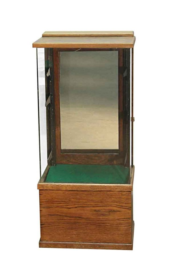 Commercial Furniture - 1920s Wood & Glass Narrow Display Showcase