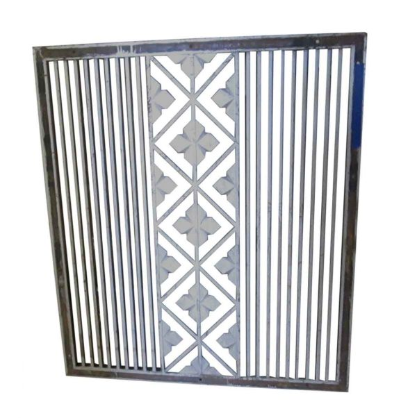 Decorative Metal - Salvaged Cast Iron Wall Vent Cover 54 x 47