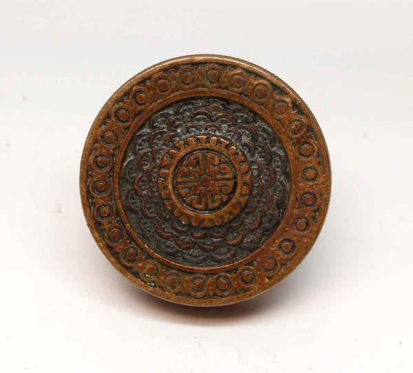 Door Knobs - Antique Bronze Brocade Corbin Passage Door Knob