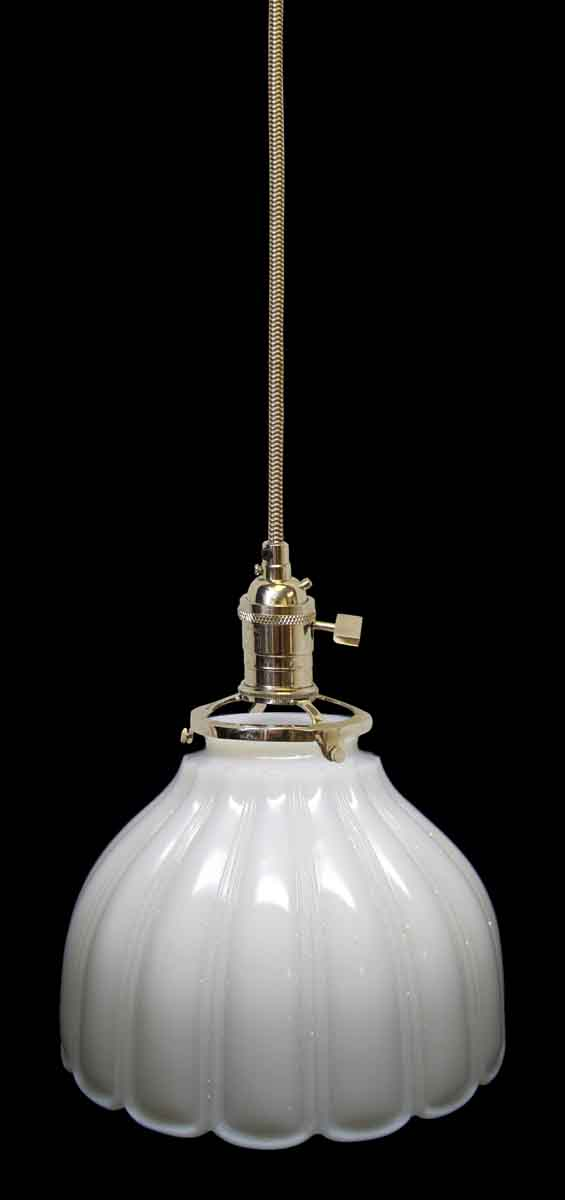 Down Lights - Antique White Milk Glass 6.375 in. Pendant Light