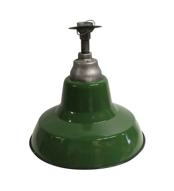 Down Lights - Industrial Green 16 in. Pendant Light