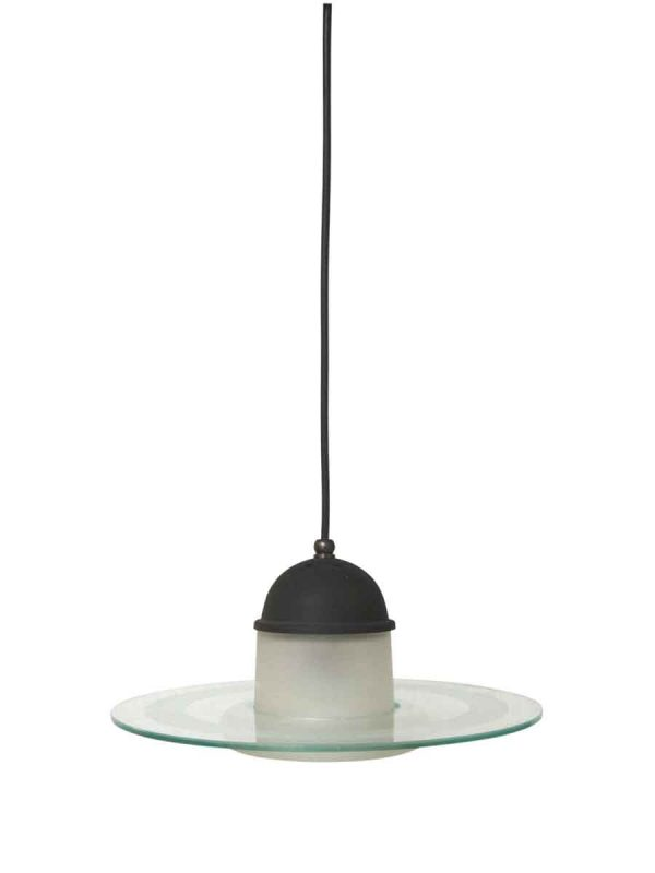 Down Lights - Modern Frosted Glass 12 in. Pendant Light