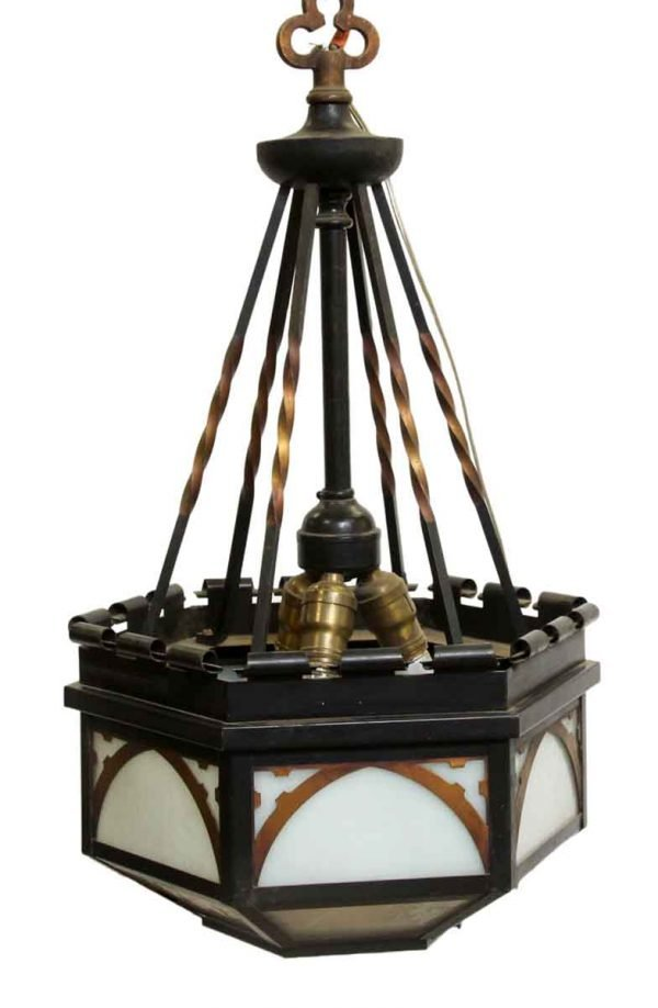 Down Lights - Vintage Gothic Black & Copper Finish Pendant Light