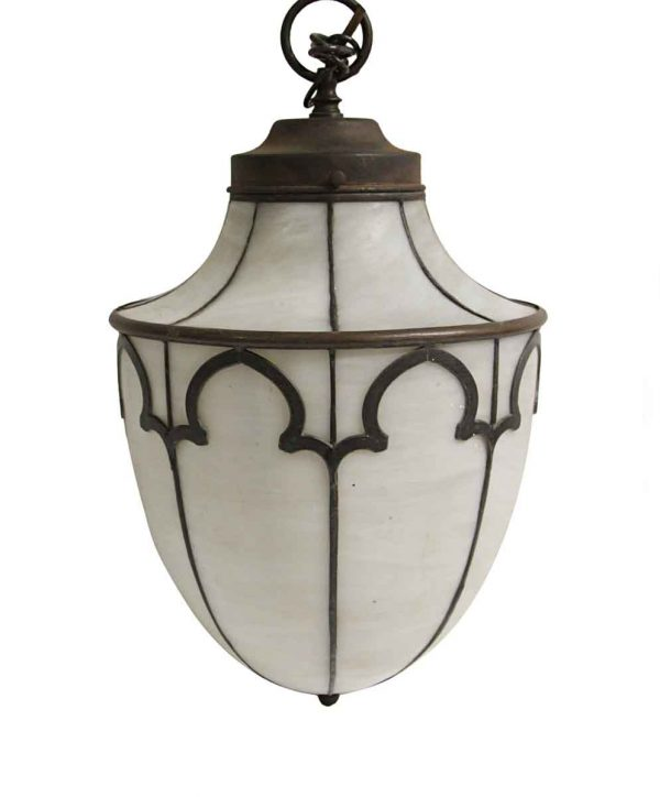 Globes - Antique Gothic Tudor Leaded Glass Pendant Light