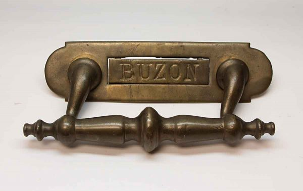 Mail Hardware - Antique Buzon Bronze Mail Slot with Handle