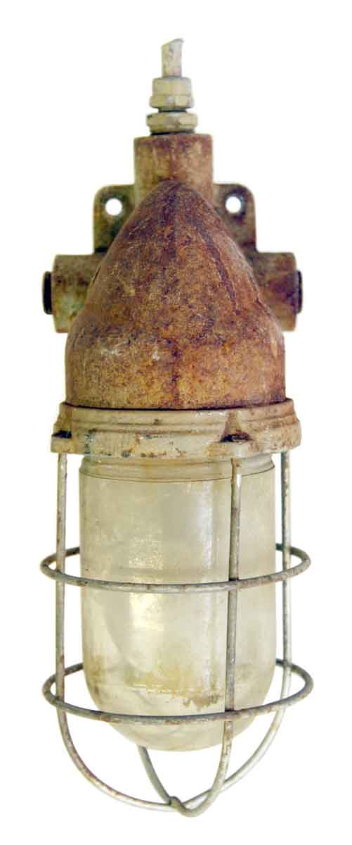 Nautical Lighting - Old Rusted Nautical Sconce