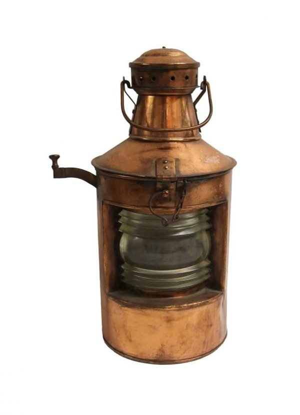 Nautical Lighting - Reclaimed Copper & Glass Ship Lantern