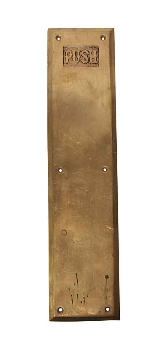 Push Plates - Antique 15 in. Bronze Door Push Plate