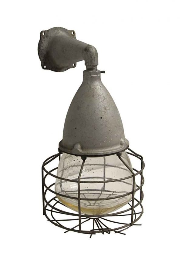 Sconces & Wall Lighting - Industrial Style Cage Light Sconce Original Glass