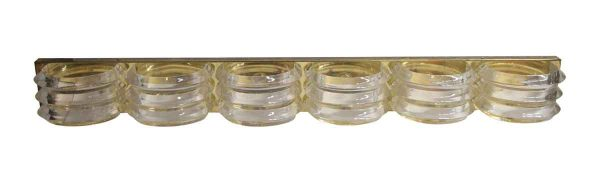 Sconces & Wall Lighting - Mid Century Lucite & Brass Over Mirror Wall Sconce