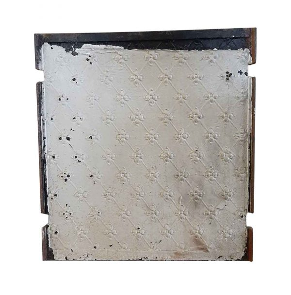 Screens & Covers - Antique Floral Fire Back Center Piece 27 x 25