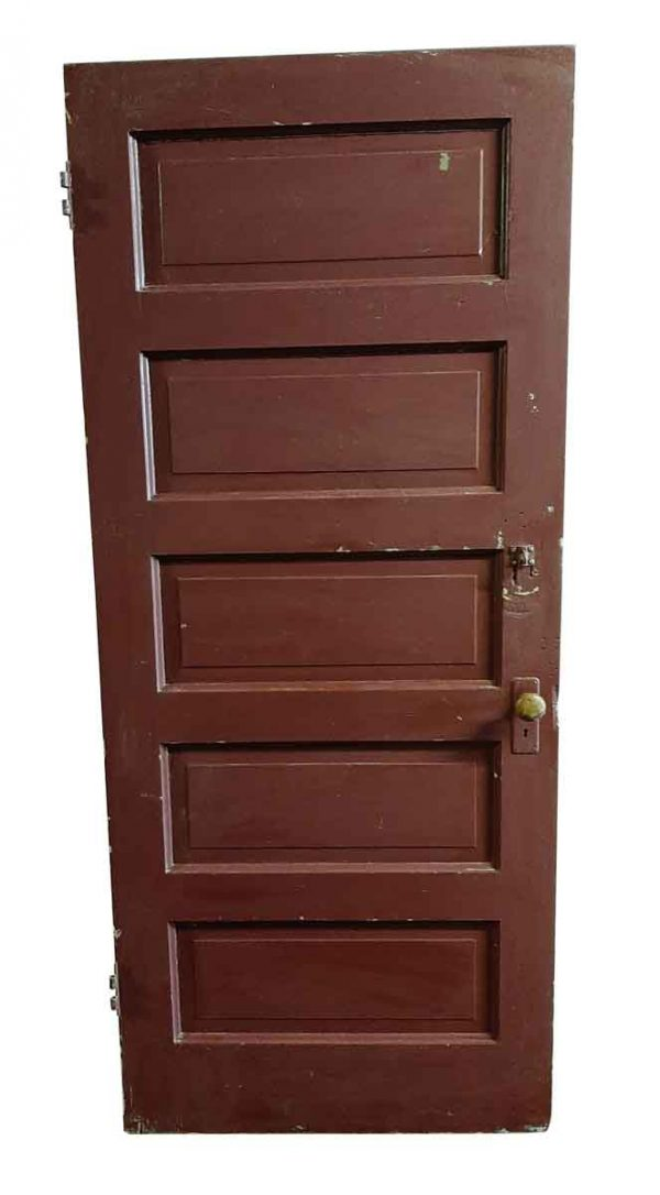 Standard Doors - Antique 5 Pane Wood Privacy Door 83.75 x 35.75