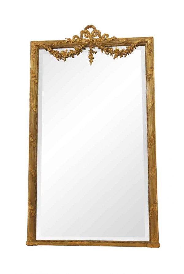 Antique Mirrors - Antique European Gold Gilded Ornate Wall Mirror