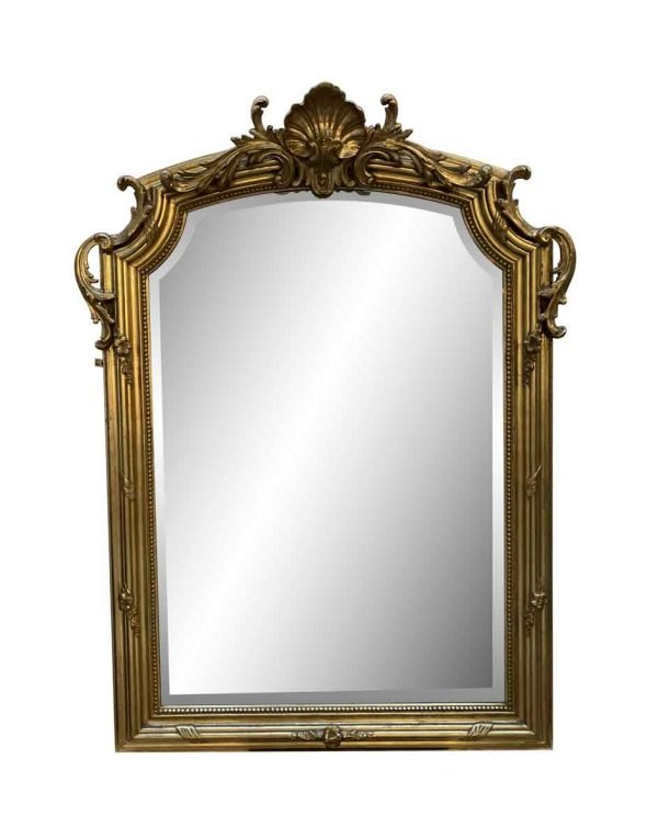 Antique Mirrors - Antique French Rococo Gilded Wall Mirror
