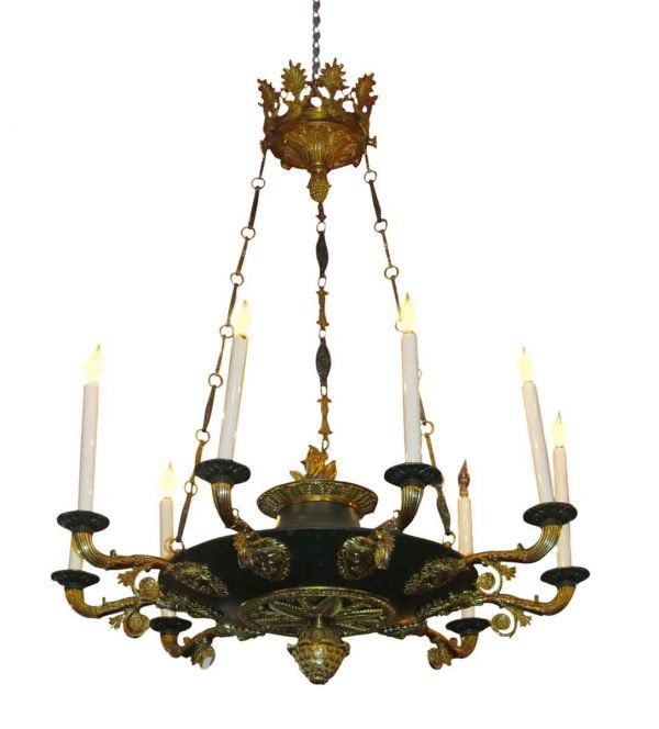 Chandeliers - Antique Empire 9 Light Bronze Chandelier