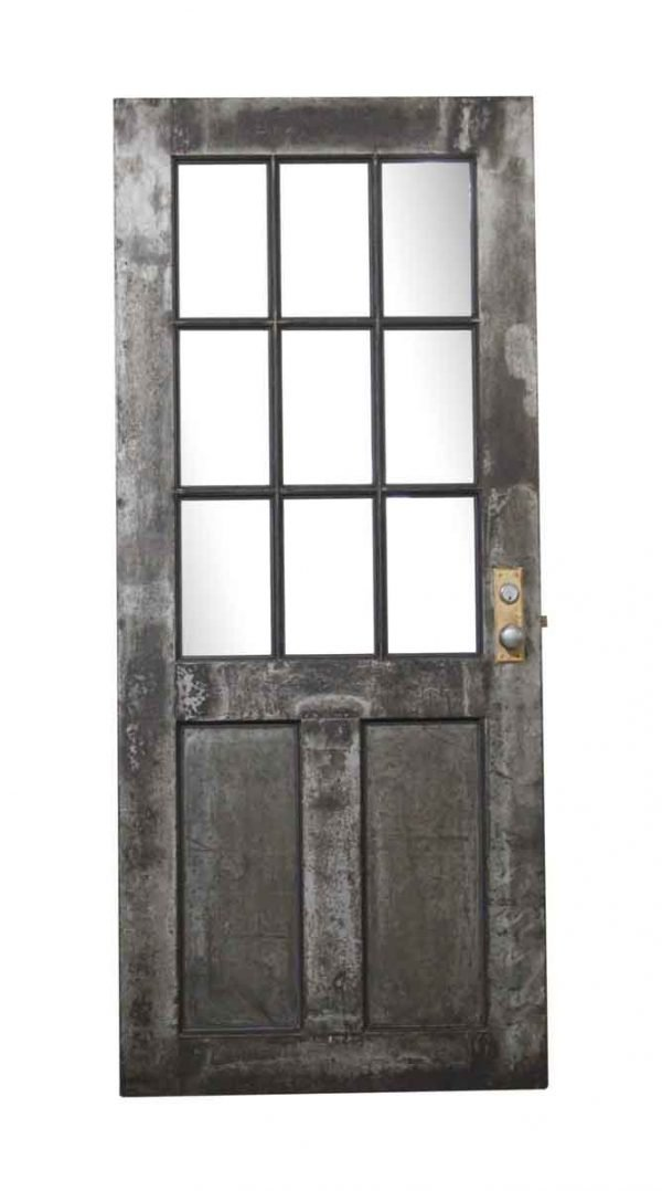Commercial Doors - Antique 9 Wire Glass Lite Steel Door 84 x 35.625