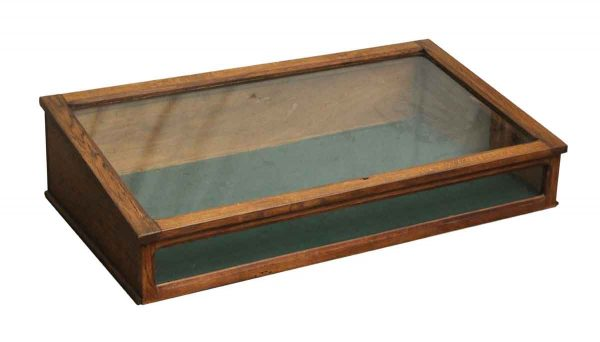 Commercial Furniture - Imported Oak Vintage Table Top Display Case